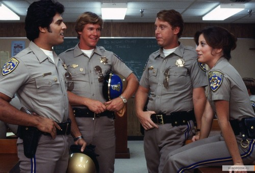 Brianne Leary in CHiPs promos