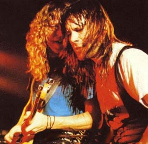 Bruce and Janick Gers