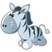 Cartoon animal avatar - blue icon