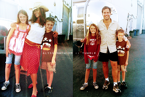 NCIS wallpaper possibly containing a playsuit titled Cote&Michael with kids