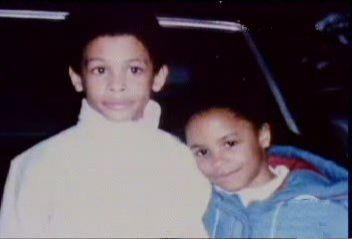 Cute aaliyah with brother Rashad :)