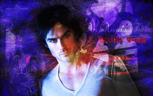 Damon Salvatore Vampire Diaries- 바탕화면