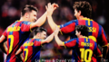 David Villa and Lio Messi