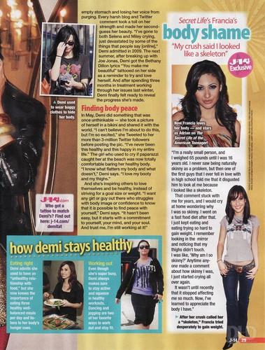 Demi - J-14 Magazine - August 2011