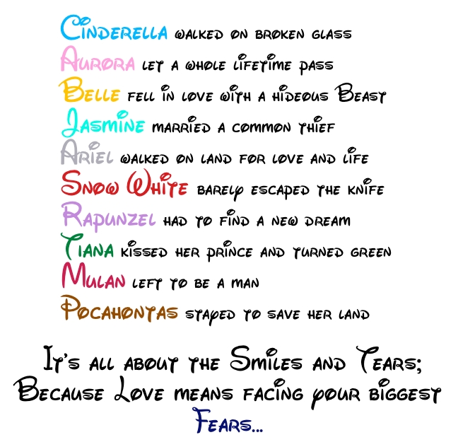 Disney Princess Love Quote Disney Princess 24262098 648