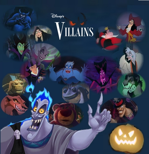 Disney Villains karatasi la kupamba ukuta titled Disney Villains in Underworld