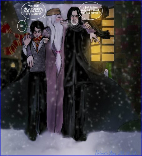severus snape fondo de pantalla probably containing anime entitled Drunken Dumbledore :)