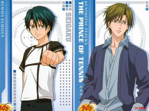 Prince of Tennis wallpaper with anime called Echizen & Tezuka