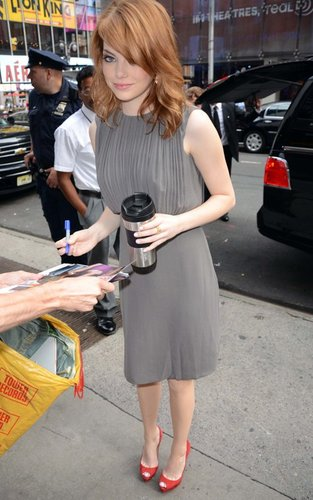 "Emma Stone and Bryce Dallas Howard at GMA promoting ""The Help"" (August 4)."