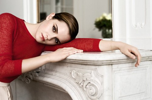 Emma Watson is Red Hot for Lancome