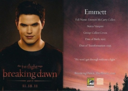 Emmett And Rosalie Breaking Dawn Trading Cards