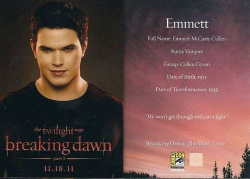 Emmett Breaknig Dawn promo card