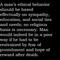 Ethical Behavior - atheism fan art