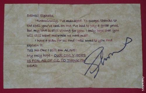 Fiyero's note