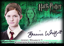 Ginny Weasley Authentic Autograph Card HP5