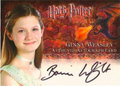 Ginny Weasley Authentic Autograph Card HP4