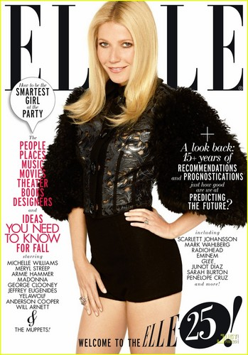 Gwyneth Paltrow 壁紙 probably with attractiveness, a hip boot, and a portrait titled Gwyneth Paltrow Covers 'Elle' September 2011