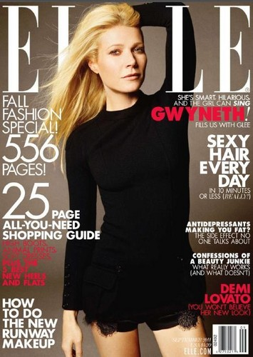 Gwyneth Paltrow wallpaper with a portrait entitled Gwyneth Paltrow Covers September 2011 Issue of ELLE