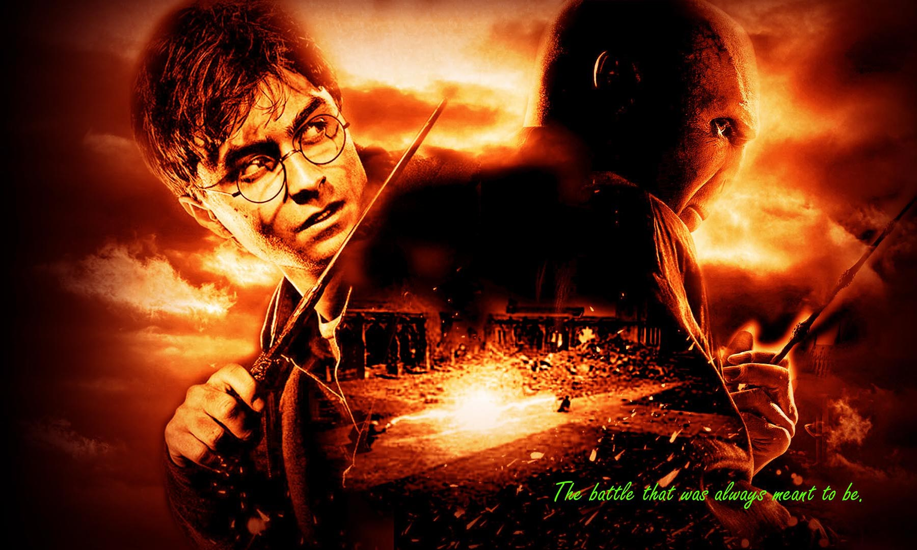 Harry potter vs lord voldemort