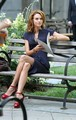 Hilarie Burton On The Set Of White Collar