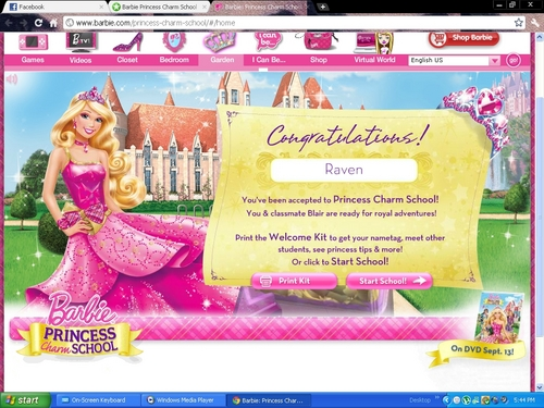Películas De Barbie Fondo De Pantalla Entitled I Am Now Enrolled At  Princess Charm School!