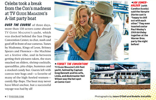 Ian and Candice @ TV Guide Magazine