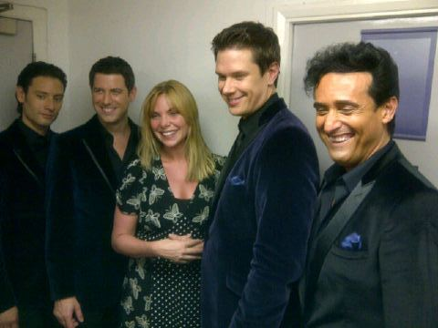 Il D with Samantha Womack formerly of the British TV दिखाना Eastenders after last night's performance