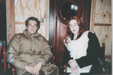 Jack and Rose (behind scene)