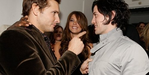 Jackson Rathbone & Ashley Greene wallpaper possibly containing a well dressed person, a business suit, and a portrait entitled Jackson Rathbone and Ashley Greene