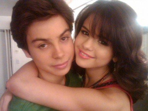 Jake T. Austin and Selena Gomez