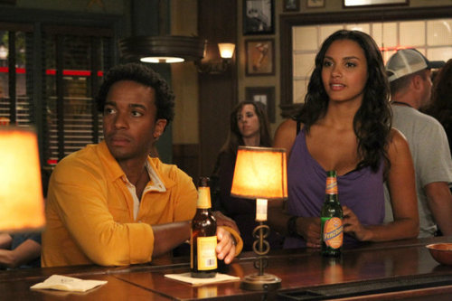 Jessica & Andre Holland in friends with Benefits