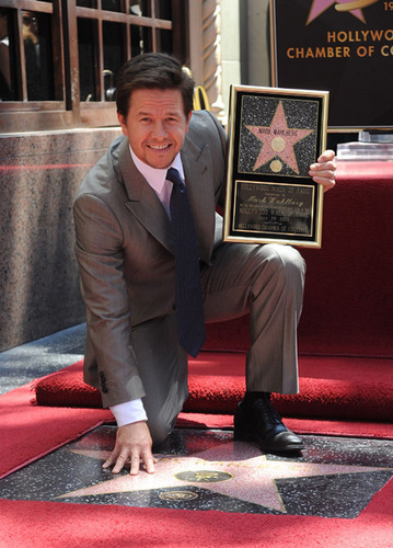 July 29 2010 - Mark Wahlberg Honored On The Hollywood Walk Of Fame