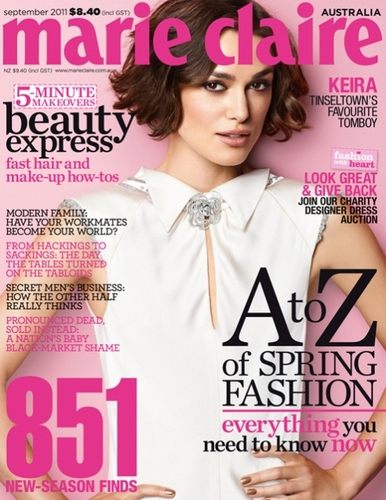 Keira Knightley for Marie Claire Australia September 2011