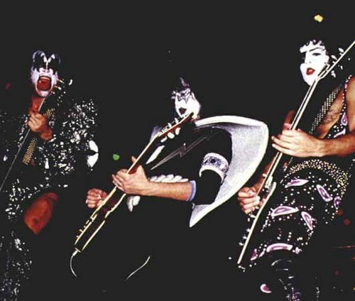 KISS wallpaper probably with a concert and a guitarist titled Kiss live 1979