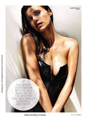 Lake in Maxim Magazine - September 2011 [scans]