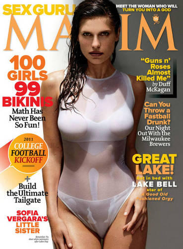 Lake on the cover of Maxim Magazine - September 2011