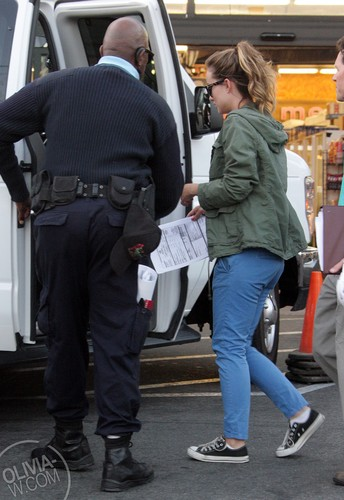 Leaving the set of 'Free Hugs' [July 29, 2011]
