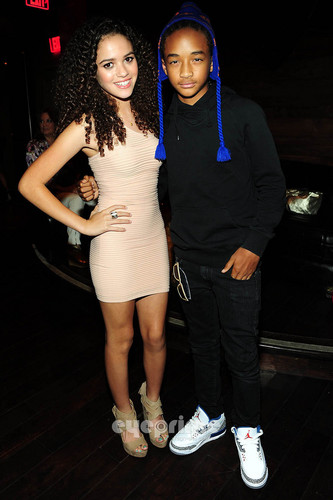 Jaden Smith Hintergrund entitled Madison Pettis and Jaden Smith: Madison's 13th Birthday Bash