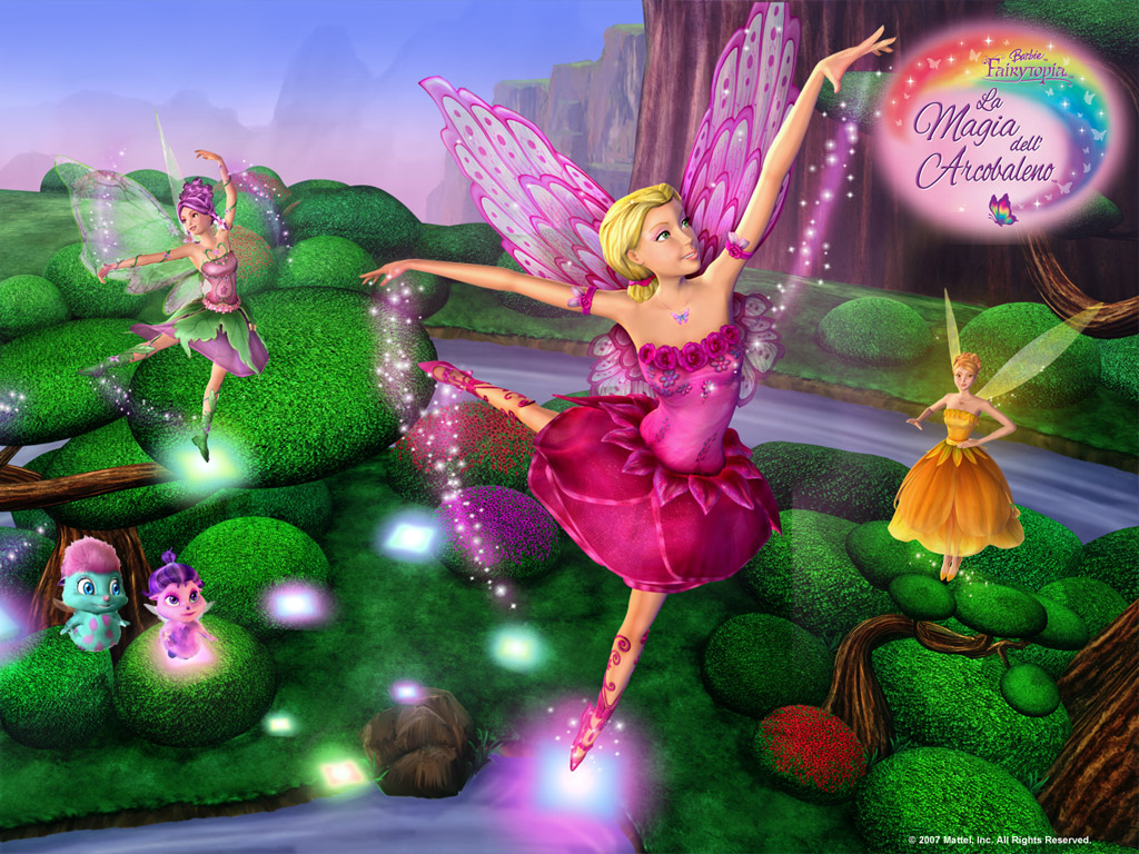 Barbie movies magic of the rainbow wallpapers