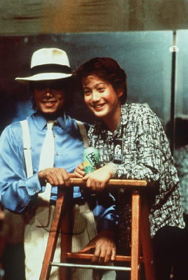 Michael Jackson and Sean Lennon. 1988