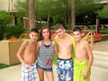 Mikey, Nick& Madison:)((SHIRTLESS))