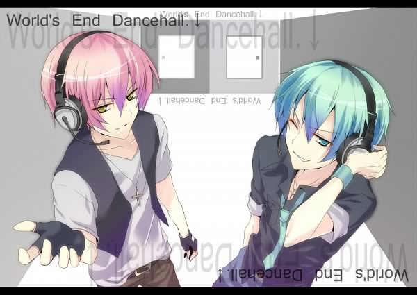 mikuo hatsune images mikuo and luki worlds end dance hall