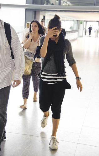 Mila Kunis departs Heathrow Airport in London, Aug 4