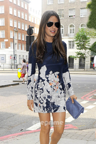 Mila Kunis pictured leaving a televisie Studio in London, August 2