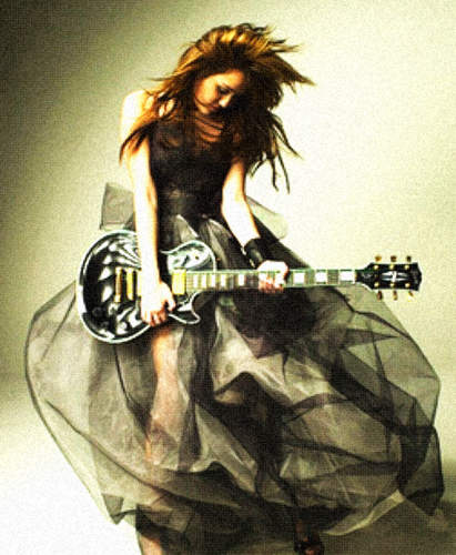 Miley Cyrus wallpaper with a guitarist titled Miley Love