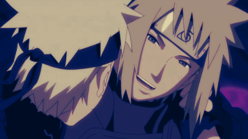 Minato Namikaze Hintergrund called Minato & Naruto