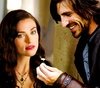 Merlin on BBC photo with a portrait titled Morgana & Gwaine