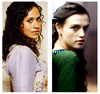 Merlin on BBC photo containing a portrait entitled Morgana & Gwen