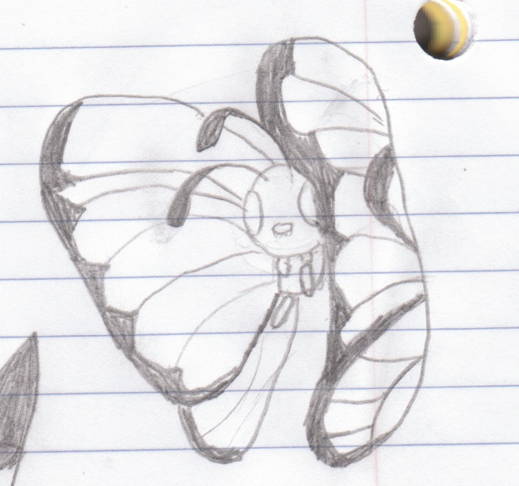 My attempt at drawing Butterfree Number 2