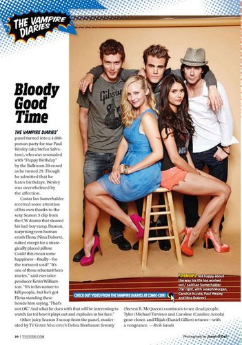 New Scans of Nina - TV Guide Comic Con Edition & August 2011